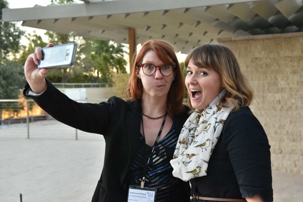attendees goof off for the camera taking a selfie